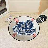"Old Dominion Monarchs Baseball Rug 29"" Diameter"
