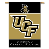 "Central Florida Golden Knights 2-Sided 28"" X 40"" Banner W/ Pole Sleeve"