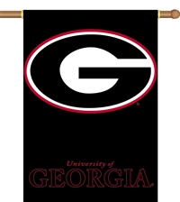 "Georgia Bulldogs Two-Sided 28"" x 40"" Banner with Pole Sleeve"