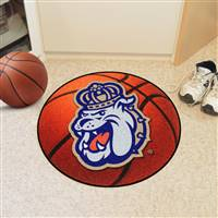 "James Madison Dukes Basketball Rug 29"" diameter"