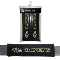 Baltimore Ravens Seat Belt Pad 2 Pack