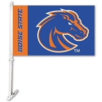 Boise State Broncos Car Flag W/Wall Brackett