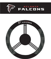 Atlanta Falcons Steering Wheel Cover (Poly-Suede)