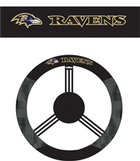 Baltimore Ravens Steering Wheel Cover (Poly-Suede)