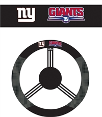 New York Giants Steering Wheel Cover (Poly-Suede)