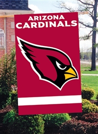 "The Party Animal  44"" x 28"" NFL Arizona Cardinals Applique Banner Flag"