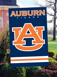 "Auburn Tigers Oversized 44"" x 28""  Applique Banner Flag"