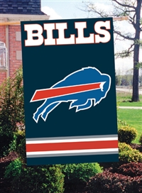 "The Party Animal  44"" x 28"" NFL Bills Applique Banner Flag"