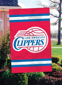 "Los Angeles Clippers NBA Oversized 44"" x 28"" Applique Banner Flag"
