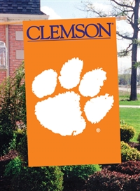 "Clemson Tigers Oversized 44"" x 28"" Applique Banner Flag"