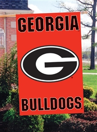 "Georgia Bulldogs Oversized 44"" x 28"" Applique Banner Flag"