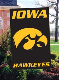 "Iowa Hawkeyes Oversized 44"" x 28"" Applique Banner Flag"