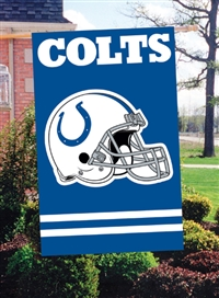 "The Party Animal  44"" x 28"" NFL Colts Applique Banner Flag"