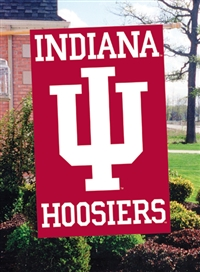 "Indiana Hoosiers Oversized 44"" x 28"" Applique Banner Flag"