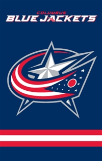 Columbus Blue Jackets Two Sided Banner Flag
