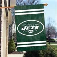 "The Party Animal  44"" x 28"" NFL New York Jets Applique Banner Flag"