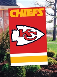 "The Party Animal  44"" x 28"" NFL Kansas City Chiefs Applique Banner Flag"