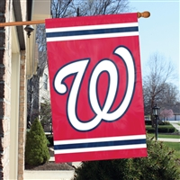 "Washington Nationals MLB Oversized 44"" x 28"" Applique Banner Flag"