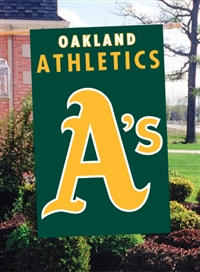 "Oakland Athletics MLB Oversized 44"" x 28"" Applique Banner Flag"