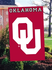 "Oklahoma Sooners Oversized 44"" x 28"" Applique Banner Flag"