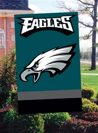 "The Party Animal  44"" x 28"" NFL Philadelphia Eagles Applique Banner Flag"