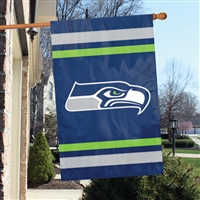 "The Party Animal  44"" x 28"" NFL Seattle Seahawks Applique Banner Flag"