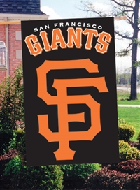 "San Francisco Giants MLB Oversized 44"" x 28"" Applique Banner Flag"