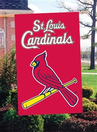 "St. Louis Cardinals MLB Oversized 44"" x 28"" Applique Banner Flag"