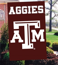 "Texas A&M Aggies Oversized 44"" x 28"" Applique Banner Flag"
