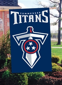 "The Party Animal  44"" x 28"" NFL Tennessee Titans Applique Banner Flag"