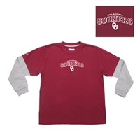 "Oklahoma Sooners NCAA Danger"" Youth Tee (Maroon) (X-Large)"""