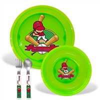 Los Angeles Angels MLB BPA Free Toddler Dining Set (4 Piece)
