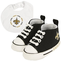 New Orleans Saints NFL Infant Bib and Shoe Gift Set