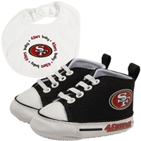 San Francisco 49ers NFL Infant Bib and Shoe Gift Set
