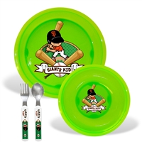San Francisco Giants MLB BPA Free Toddler Dining Set (4 Piece)