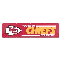 Kansas City Chiefs NFL 8' x 2' Giant Banner