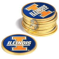 Illinois Fighting Illini 12 Pack Collegiate Ball Markers