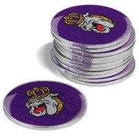 James Madison Dukes 12 Pack Collegiate Ball Markers