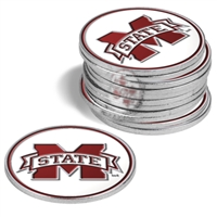 Mississippi State Bulldogs 12 Pack Collegiate Ball Markers