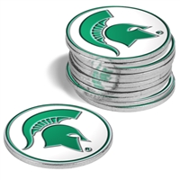 Michigan State Spartans 12 Pack Collegiate Ball Markers