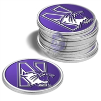 Northwestern Wildcats 12 Pack Collegiate Ball Markers