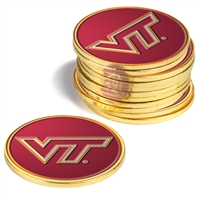 Virginia Tech Hokies 12 Pack Collegiate Ball Markers