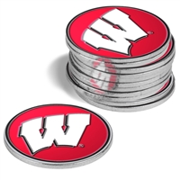 Wisconsin Badgers 12 Pack Collegiate Ball Markers