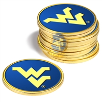 West Virginia Mountaineers 12 Pack Collegiate Ball Markers