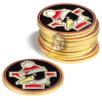 Youngstown State Penguins 12 Pack Collegiate Ball Markers