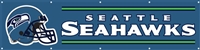 Seattle Seahawks NFL 8' x 2' Giant Banner