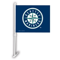 Seattle Mariners MLB Car Flag W/Wall Brackett