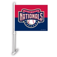 Washington Nationals MLB Car Flag W/Wall Brackett