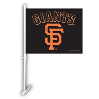 San Francisco Giants MLB Car Flag W/Wall Brackett