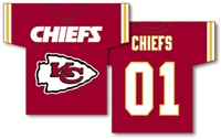 "Kansas City Chiefs Jersey Banner 34"" x 30"" - 2-Sided"